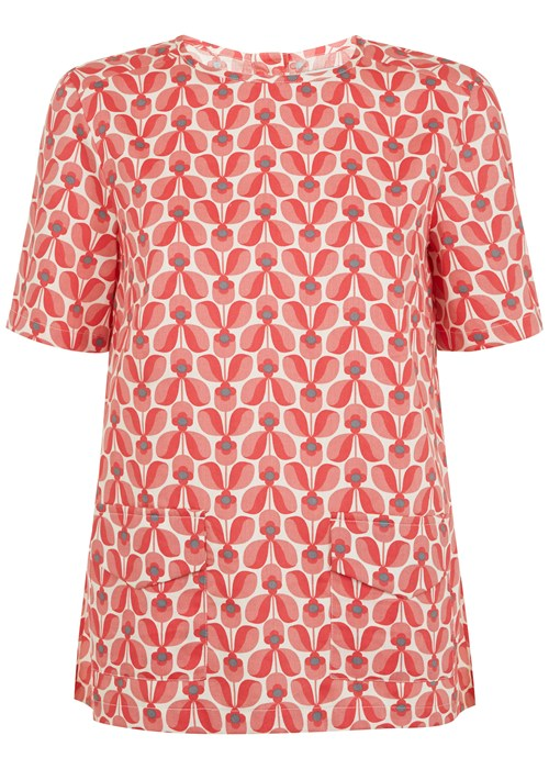 People Tree Orla Kiely Top - Great with jeans and pumps or skirts and trousers for smart.
