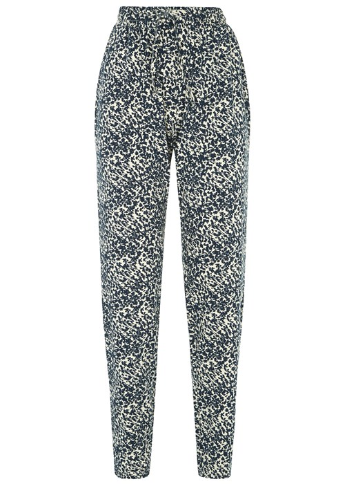 People Tree Abstract Trousers. Elastic high waist with a straight narrow leg - a great pair for all the way through Spring/Summer.