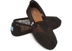 TOMS Black Morocco Crochet Women's Classic £41.99