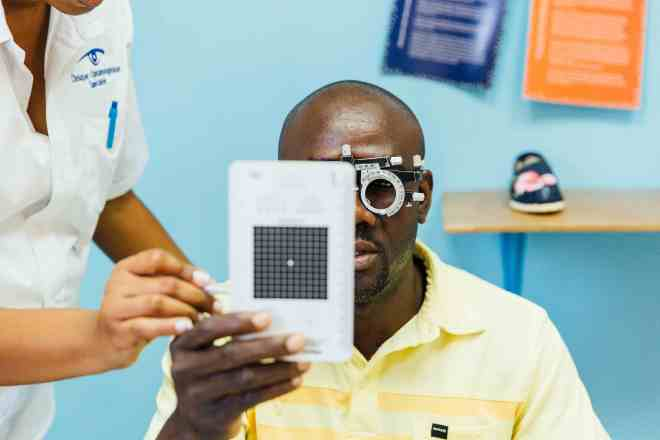 TOMS Sight Give in Haiti