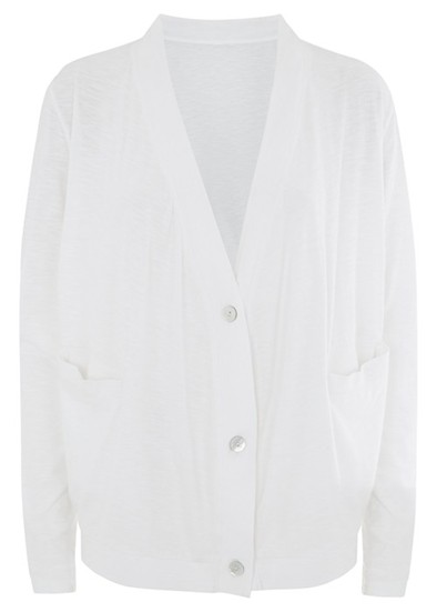 People Tree Casey Cardigan - White Was £48.00 now £39.00