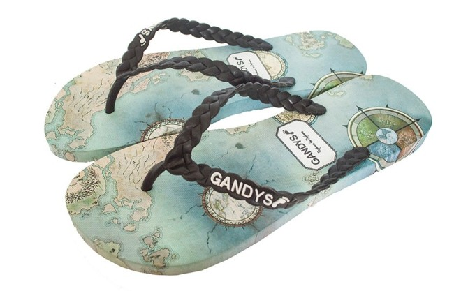 Gandys Blue Map Print