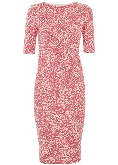 People Tree Abigail Abstract Dress - Pink Was£85.00 Now £59.50