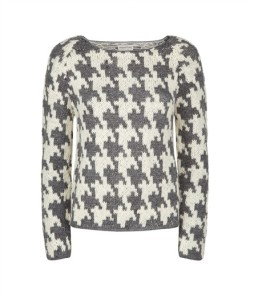 People Tree Houndstooth jumper, organic £99.00 A design classic thats easy to wear, the perfect investment piece for winter.