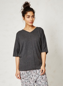 WST2601-Briar-Charcoal-Organic-Cotton-Wool-Top-Close
